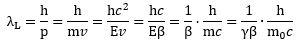 de Broglie wavelength